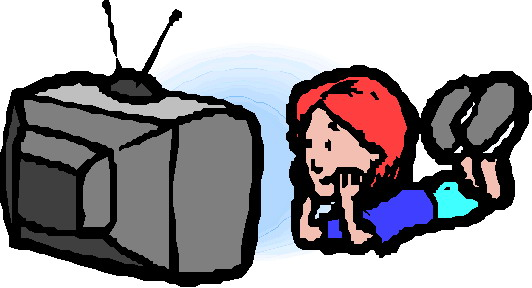 Watching-television-clipart